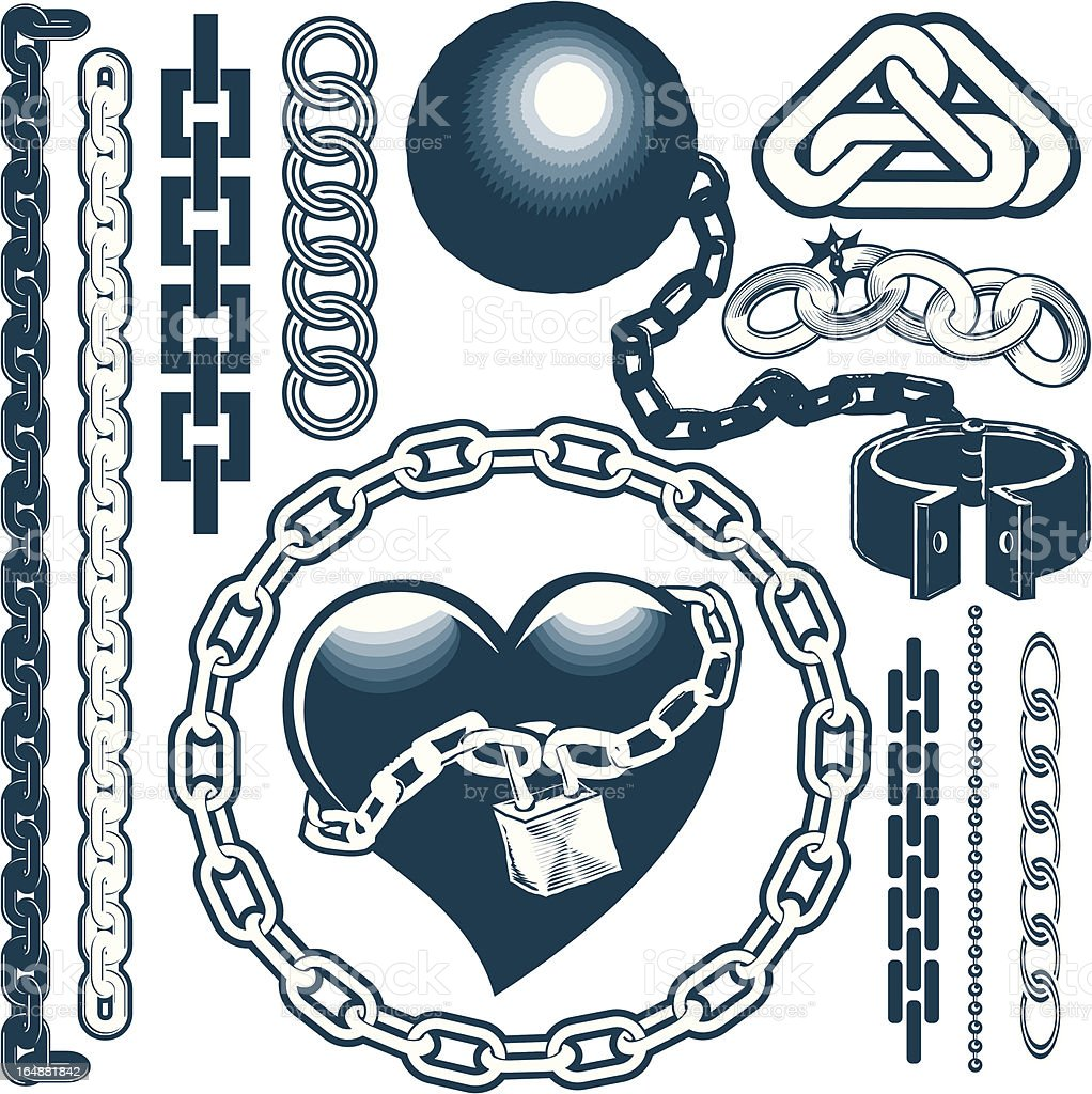 Design Elements - Chains vector art illustration