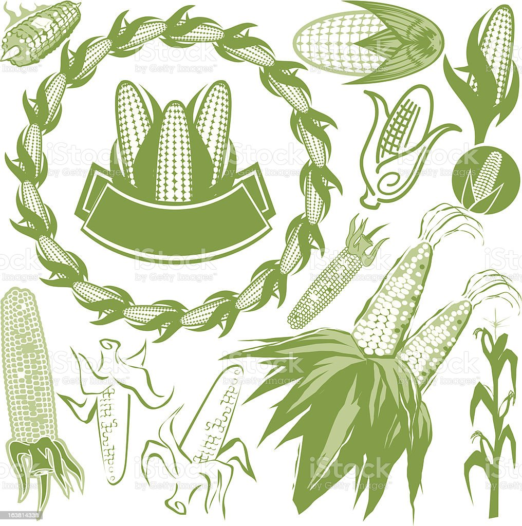 Design Elements - Corn vector art illustration