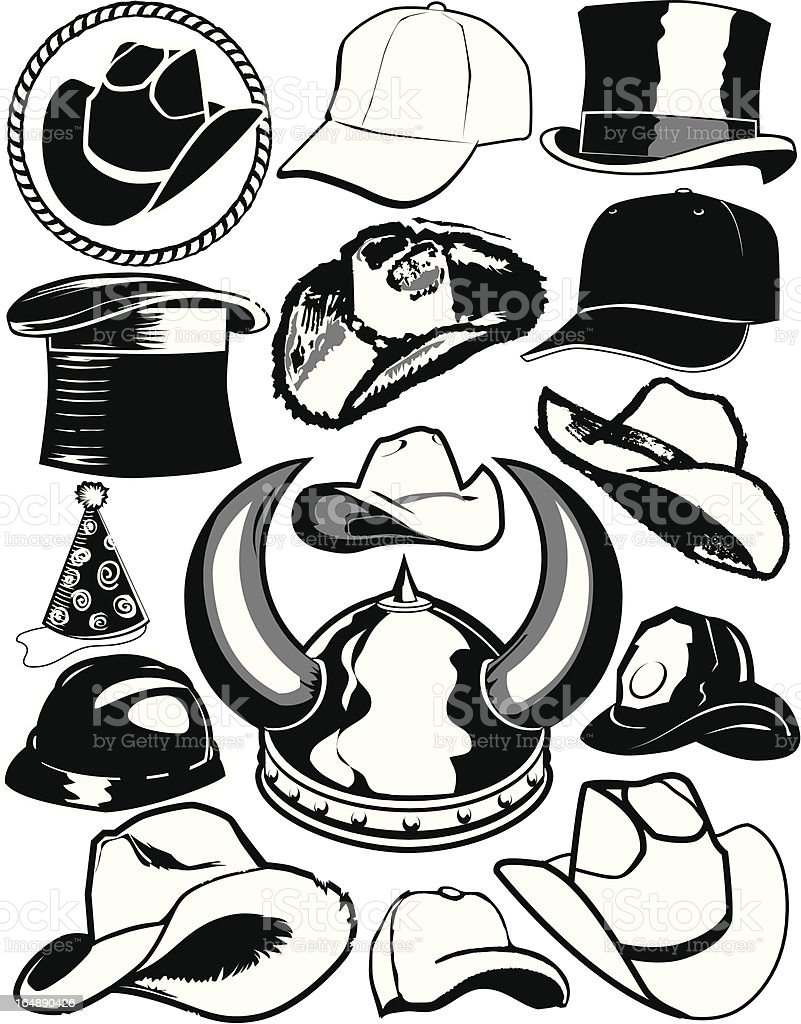 Design Elements - Hats royalty-free stock vector art
