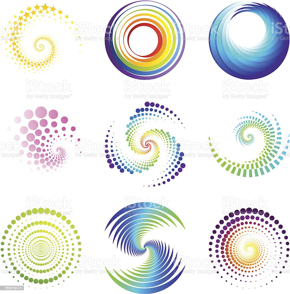 Design Elements | twirl & circle vector art illustration