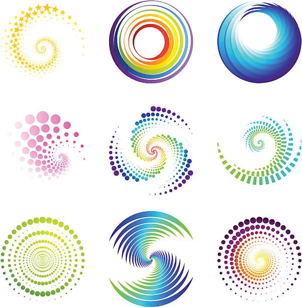 design elements | twirl & circle - spiral stock illustrations, clip art, cartoons, & icons