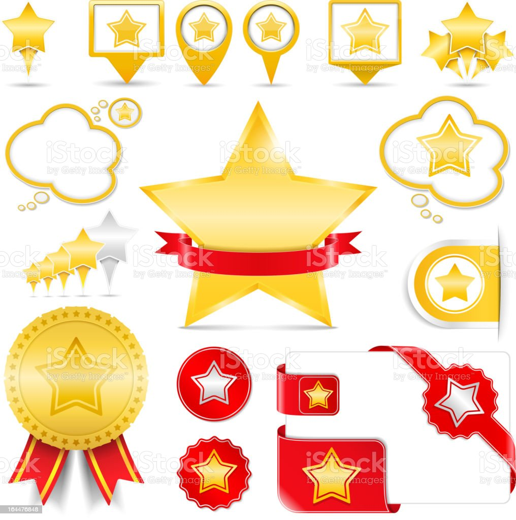 Design Elements with Stars royalty-free stock vector art