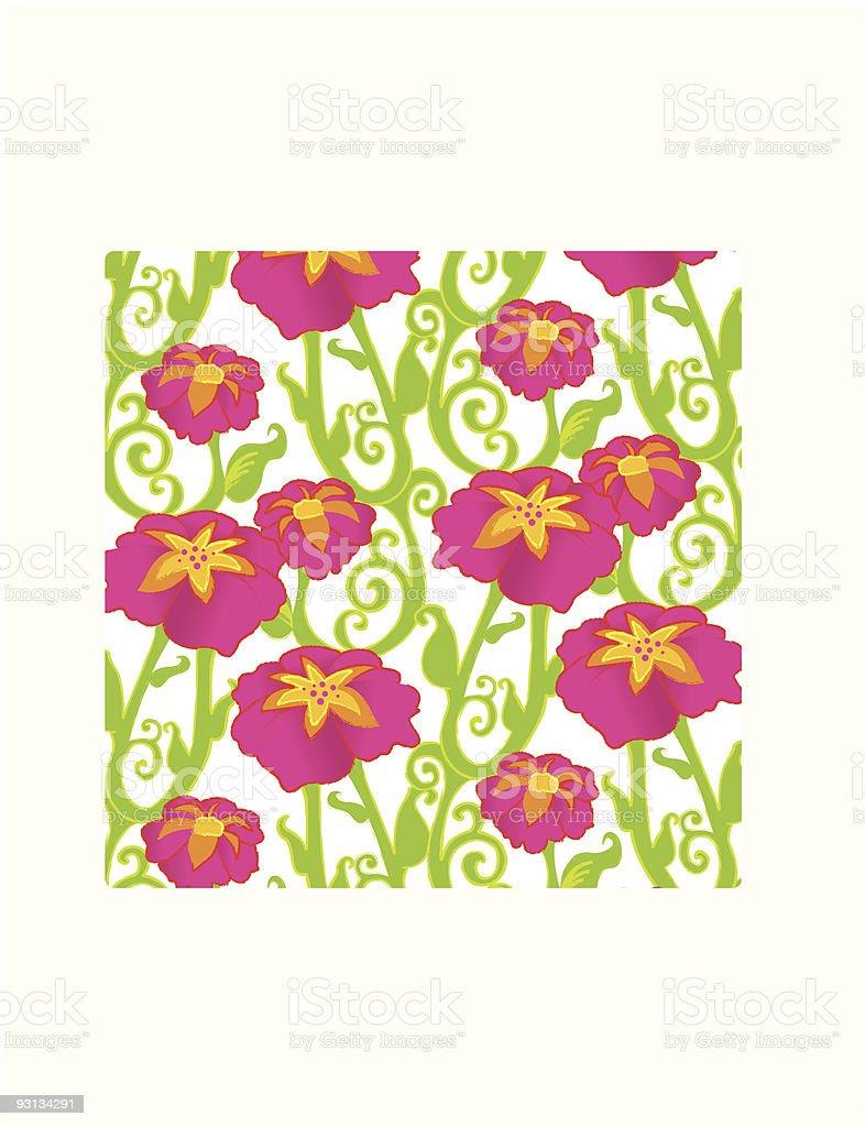 Design - Flowers 1 royalty-free stock vector art