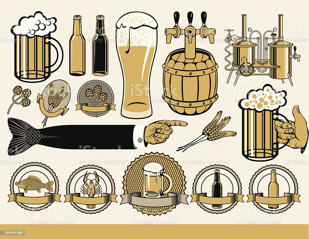 design for beer royalty-free stock vector art