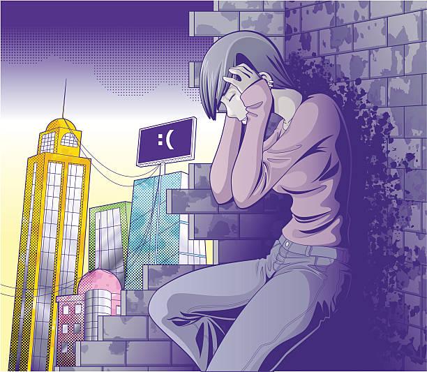 despair - anime girl stock illustrations