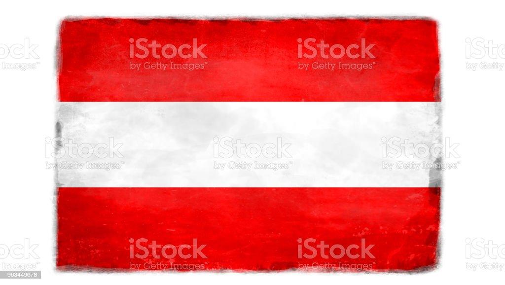 Détruit le drapeau autrichien - Illustration de Art libre de droits