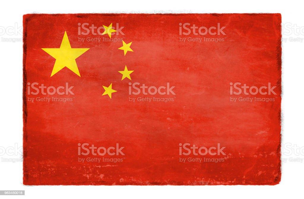 Çin bayrak yok - Royalty-free Abide Stock Illustration