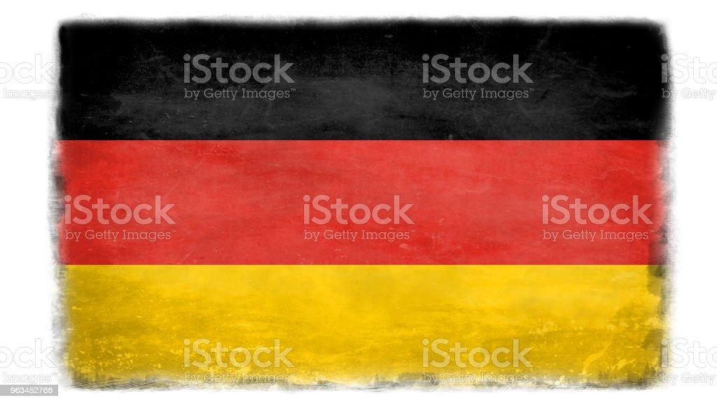 Förstörda tysk flagg - Royaltyfri Beskrivande färg Illustrationer