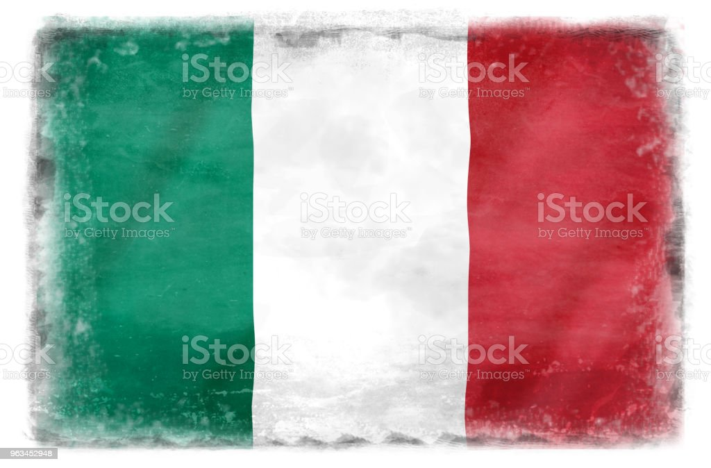 İtalyan bayrağı 2 yok - Royalty-free Abide Stock Illustration