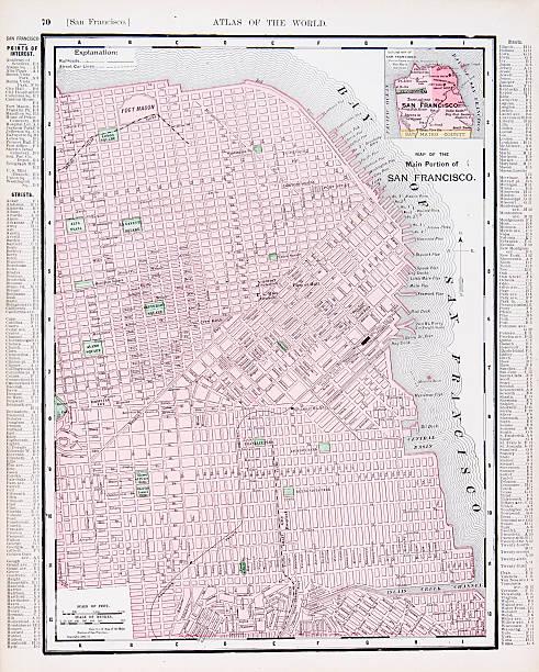San Francisco Map Clip Art Vector Images Illustrations IStock - Usa map san francisco