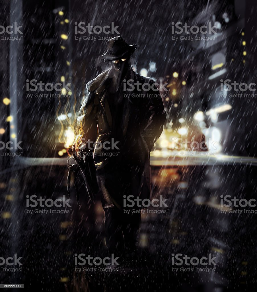 Detective vector art illustration