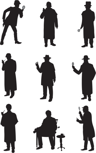Detectives in different poses