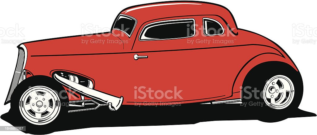 Deuce Coupe Hot Rod royalty-free stock vector art