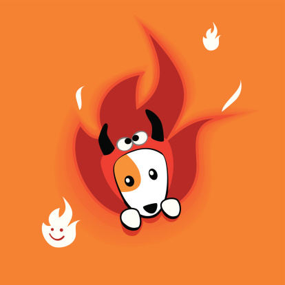 Devil Doggy Peek-a-boo