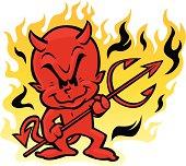 hot devil kid character