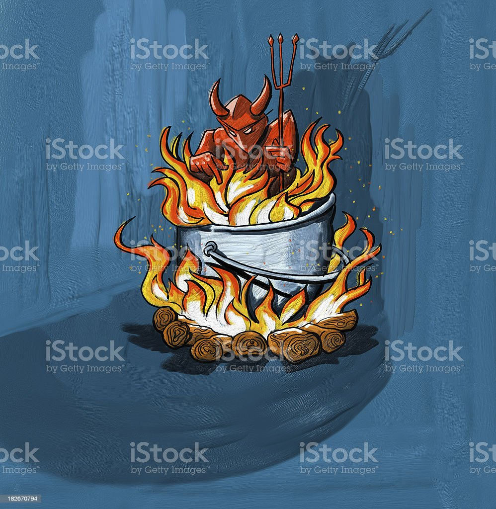 devil on fire royalty-free devil on fire stock vector art & more images of aggression
