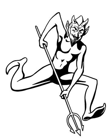 Devil Running With Pitch Fork