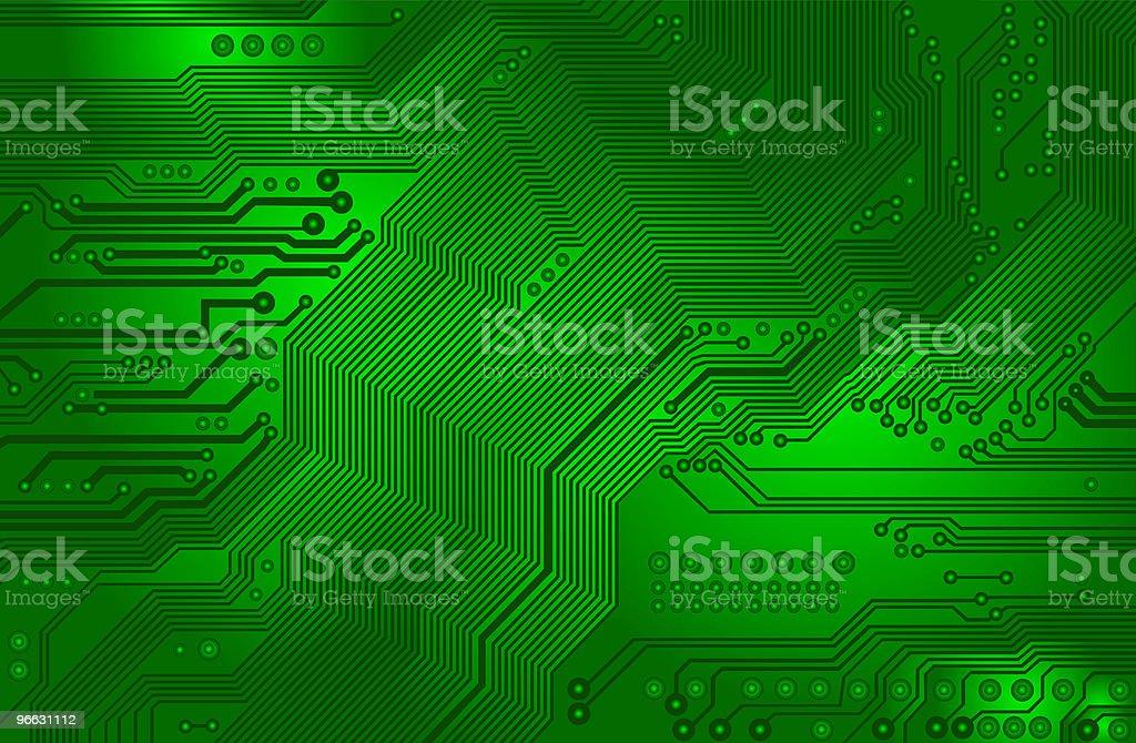 Diagram Of A Green Printed Circuit Board Stock Vector Art & More ...