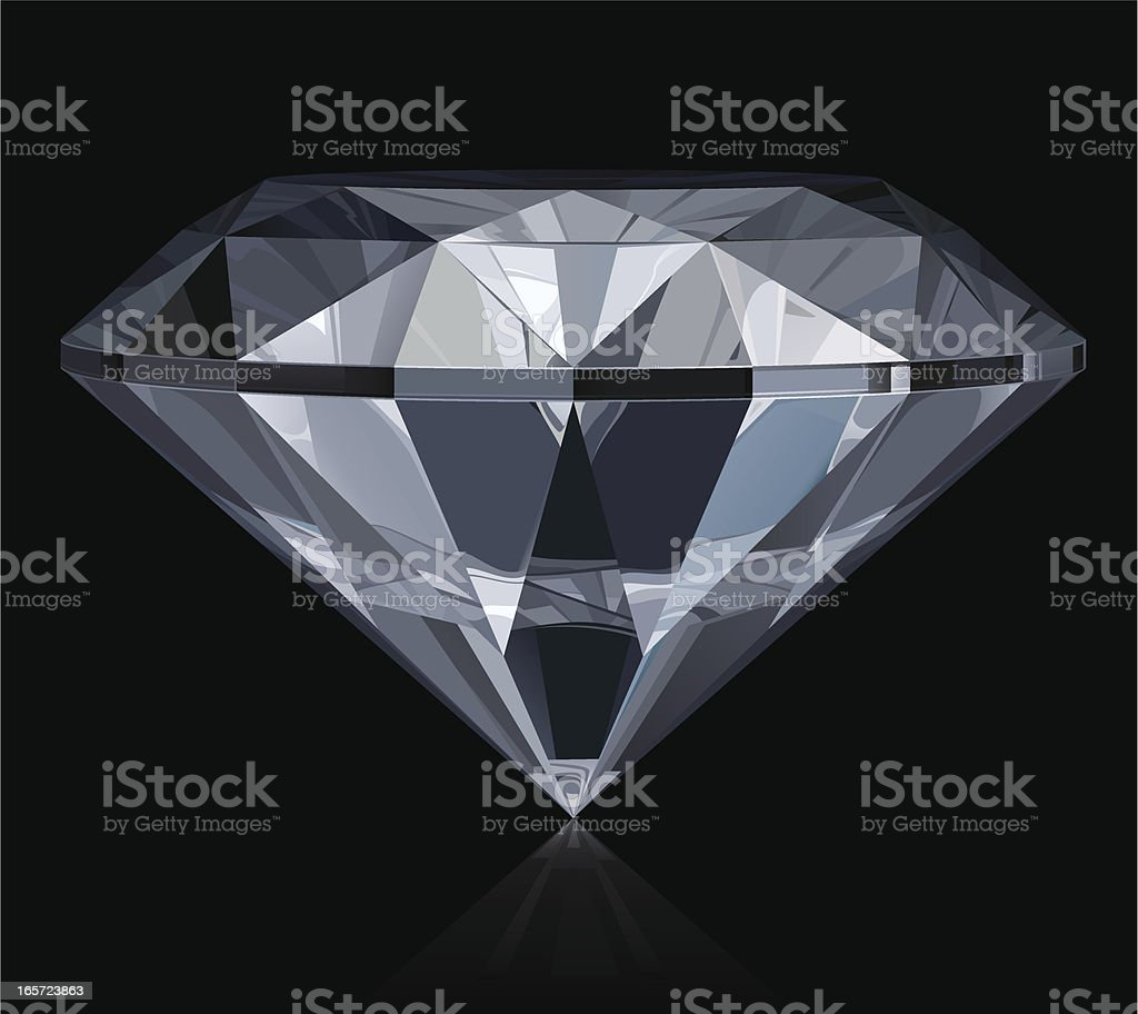 Diamond royalty-free stock vector art