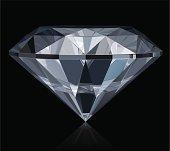 Vector illustration of classic diamond. Includes CDR (CorelDraw) and AI (Adobe Illustrator) versions.