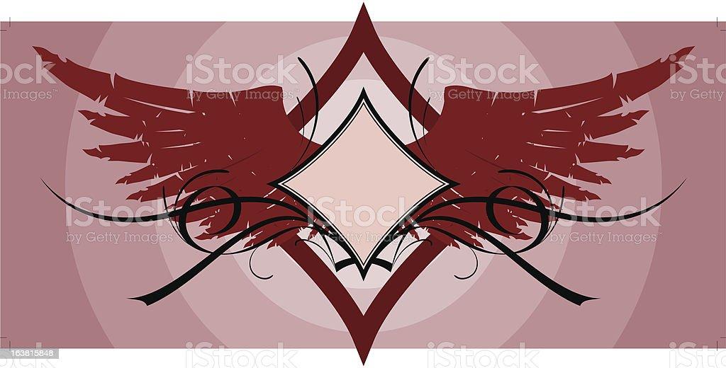Diamond ornament royalty-free stock vector art