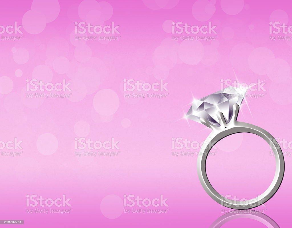 Bague en diamant - Illustration vectorielle