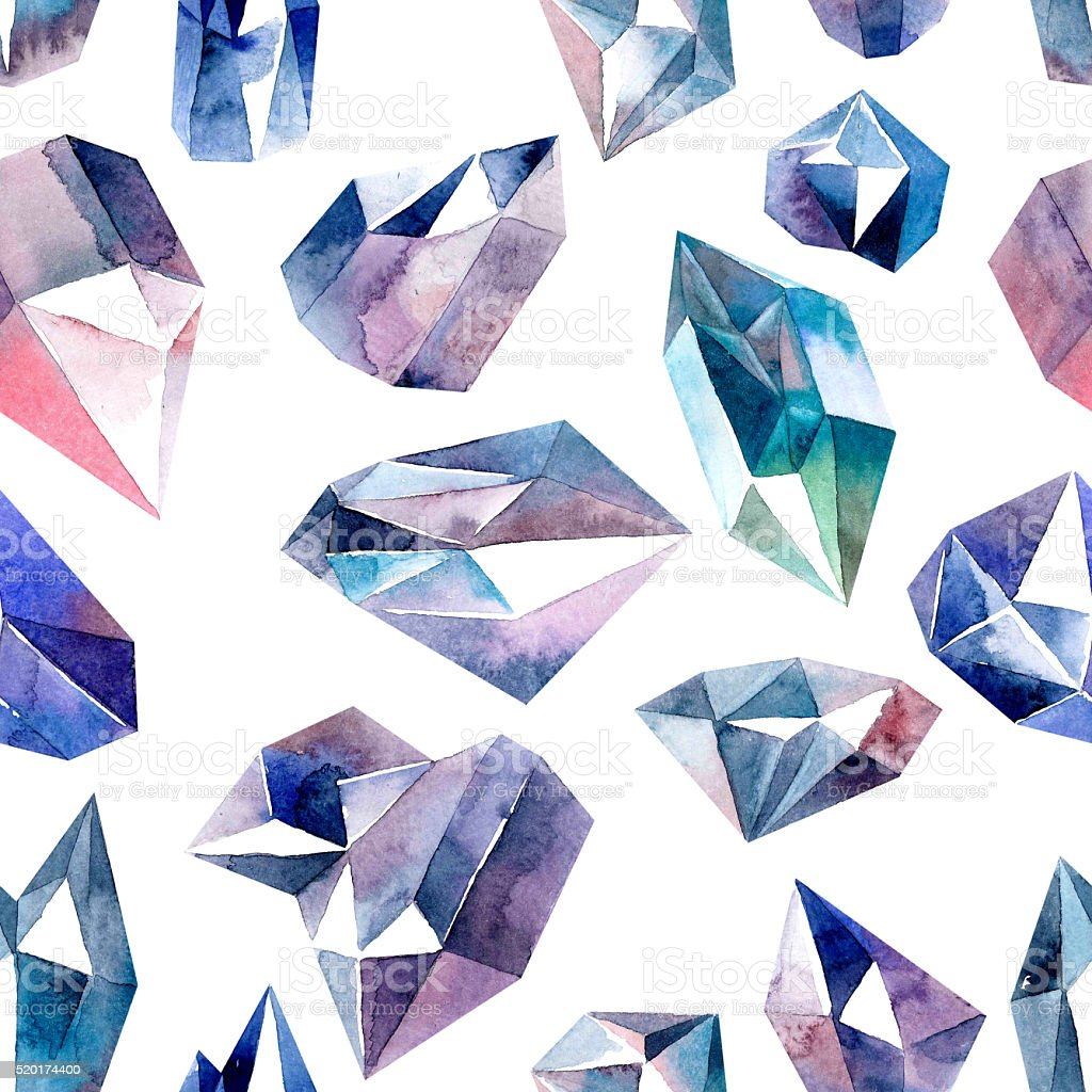 Diamonds seamless pattern vector art illustration