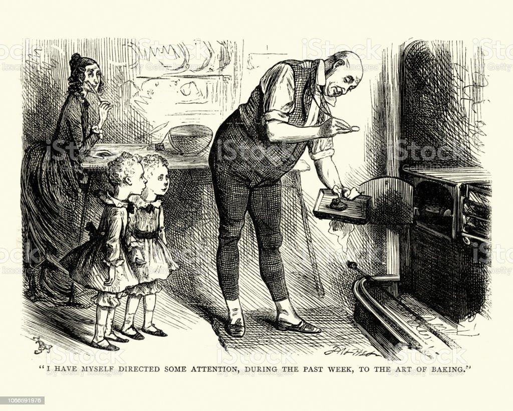 Dickens, David Copperfield, to the art of baking - Royalty-free 1870-1879 Ilustração de stock