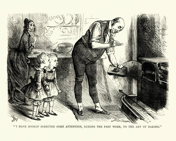 ilustrações de stock, clip art, desenhos animados e ícones de dickens, david copperfield, to the art of baking - burned oven