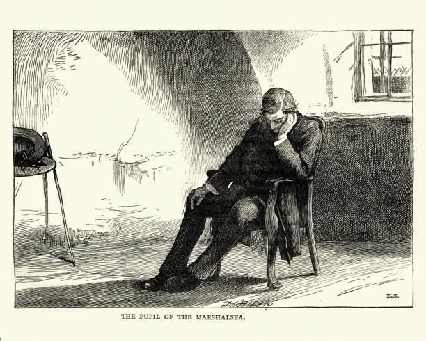 Dickens, Little Dorrit, The Pupil of the Marshalsea vector art illustration