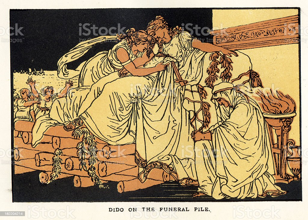 Dido Queen of Carthage royalty-free stock vector art