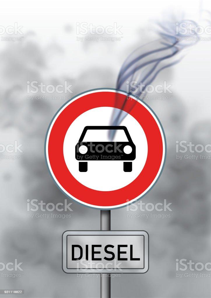 ディーゼルの道路標識 ベクターアートイラスト