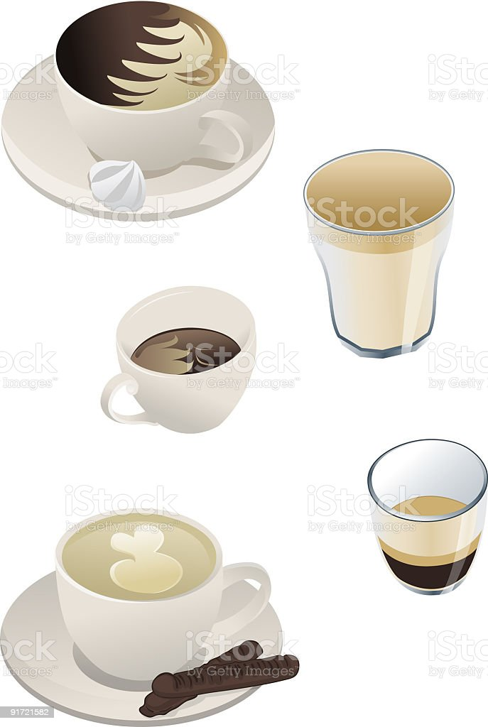 Different coffee types royalty-free different coffee types stock vector art & more images of black coffee