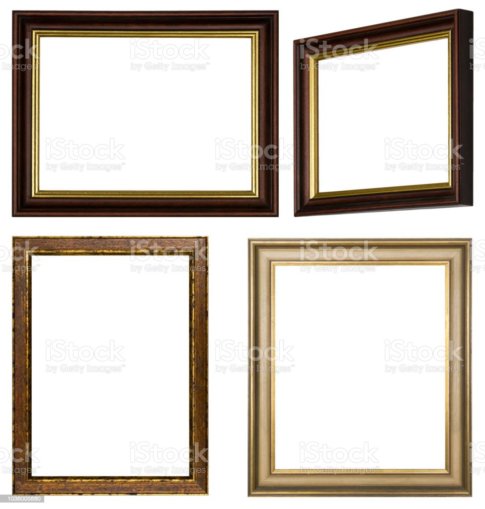 Different Frames For Pictures In Gold And Brown Stock Vector Art