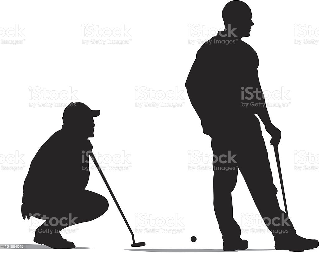 Difficult Putt royalty-free stock vector art