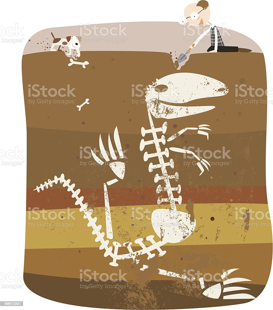 digging up some bones - Royalty-free Adult stock vector