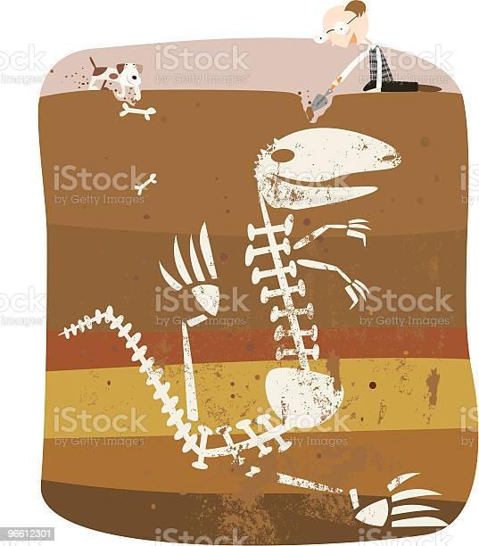 Digging Up Some Bones-vektorgrafik och fler bilder på Arbeta