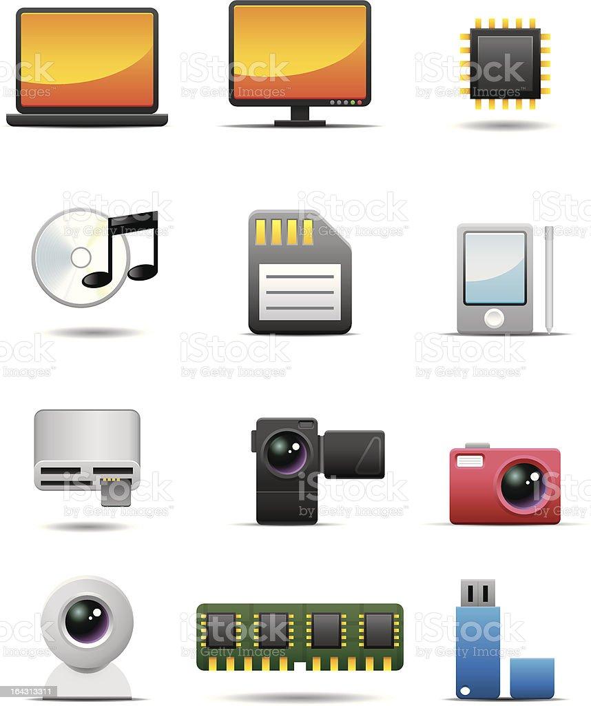 Digital Electrical Appliance Icon Set -- Premium Series royalty-free stock vector art