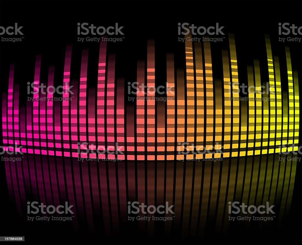 Digital equalizer - Pink and yellow color royalty-free digital equalizer pink and yellow color stock vector art & more images of backgrounds