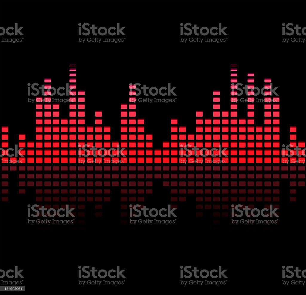 Digital equalizer - purple and red color royalty-free stock vector art