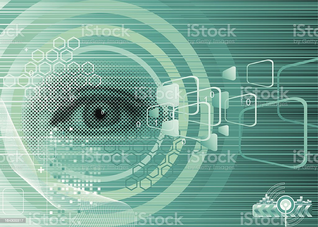 Digital Eye royalty-free stock vector art