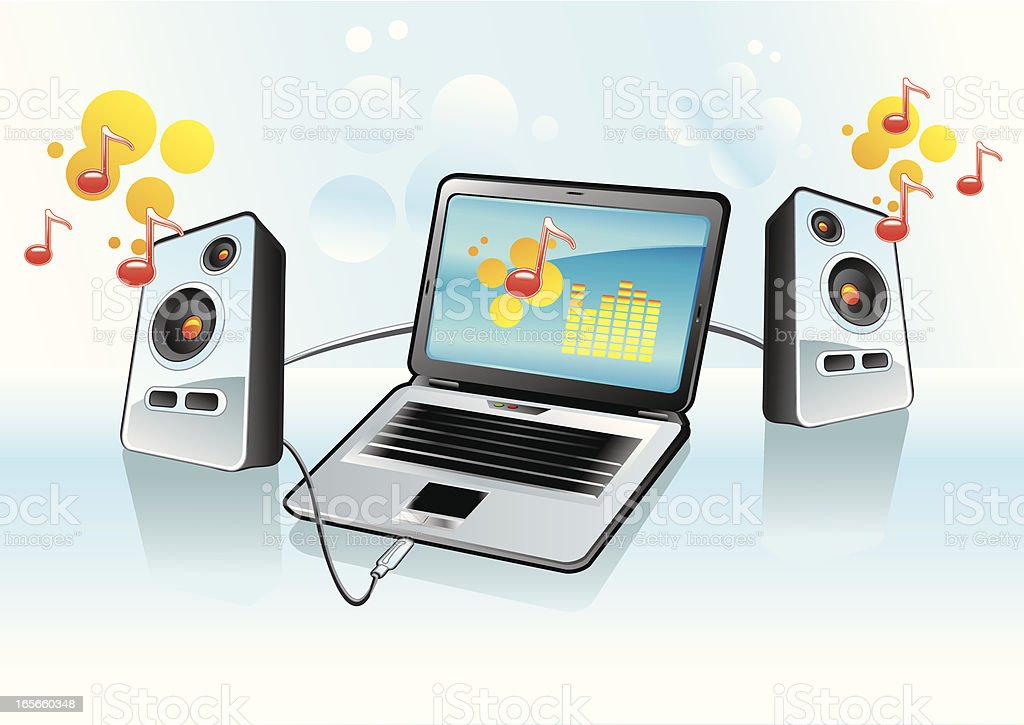 Digital music royalty-free stock vector art
