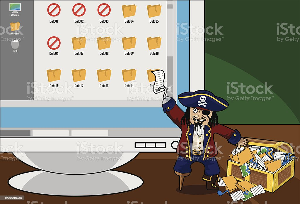 Digital Piracy pt.6 royalty-free digital piracy pt6 stock vector art & more images of anxiety