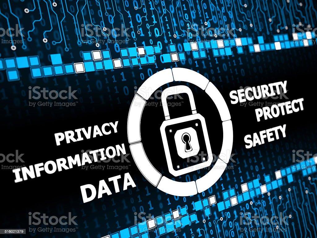 Digital security concept vector art illustration