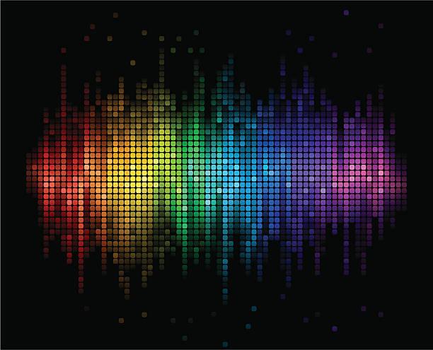 bildbanksillustrationer, clip art samt tecknat material och ikoner med digital sound background - disco lights