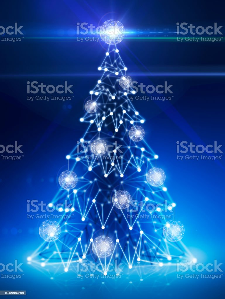 Digital Technology Christmas Tree Stock Vector Art More Images Of