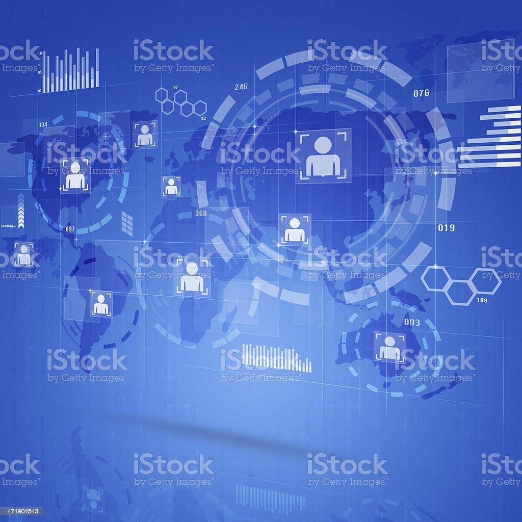 Digital Technology Interface royalty-free stock vector art