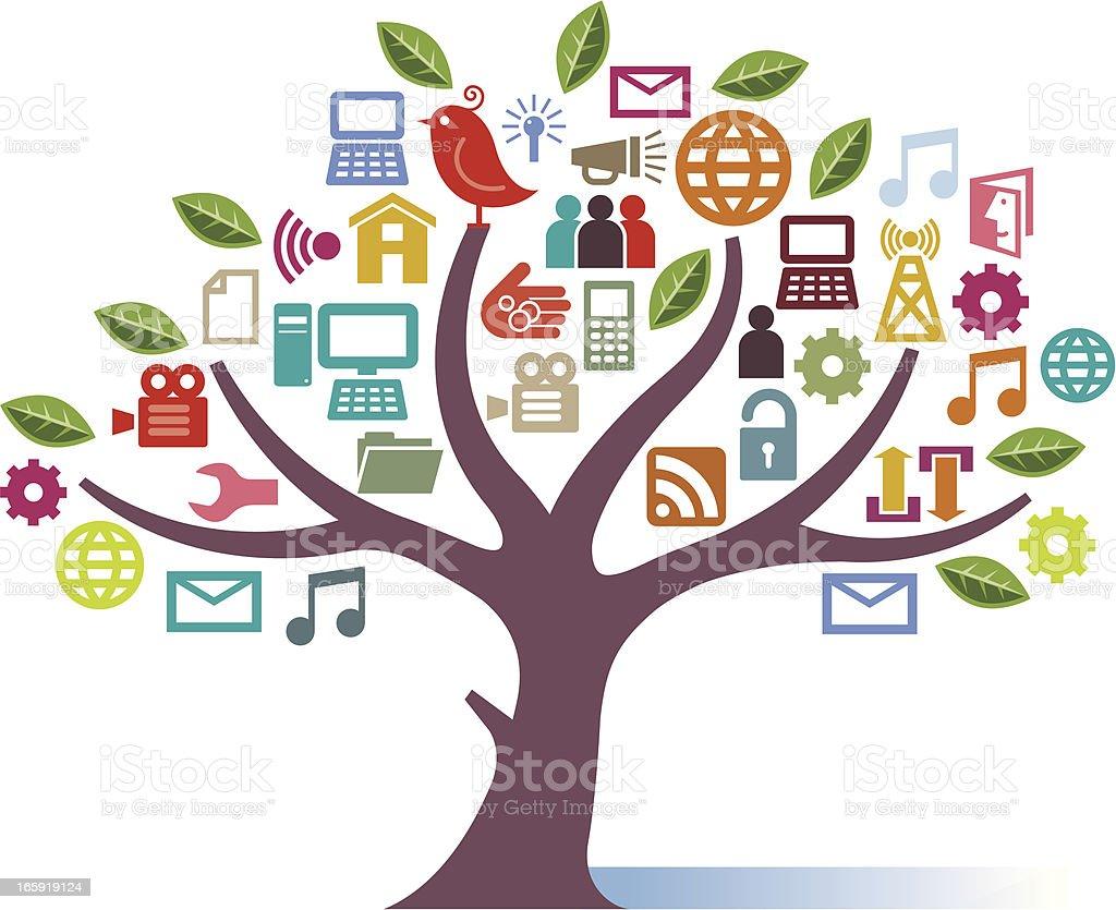 Digital tree royalty-free stock vector art