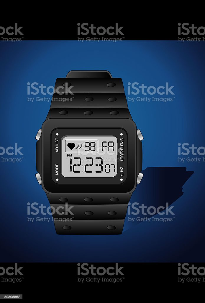 Digital Watch royalty-free digital watch stock vector art & more images of black color