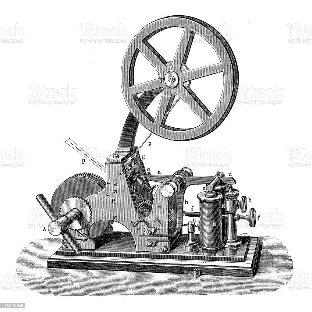 Digney's 'American' Telegraph vector art illustration